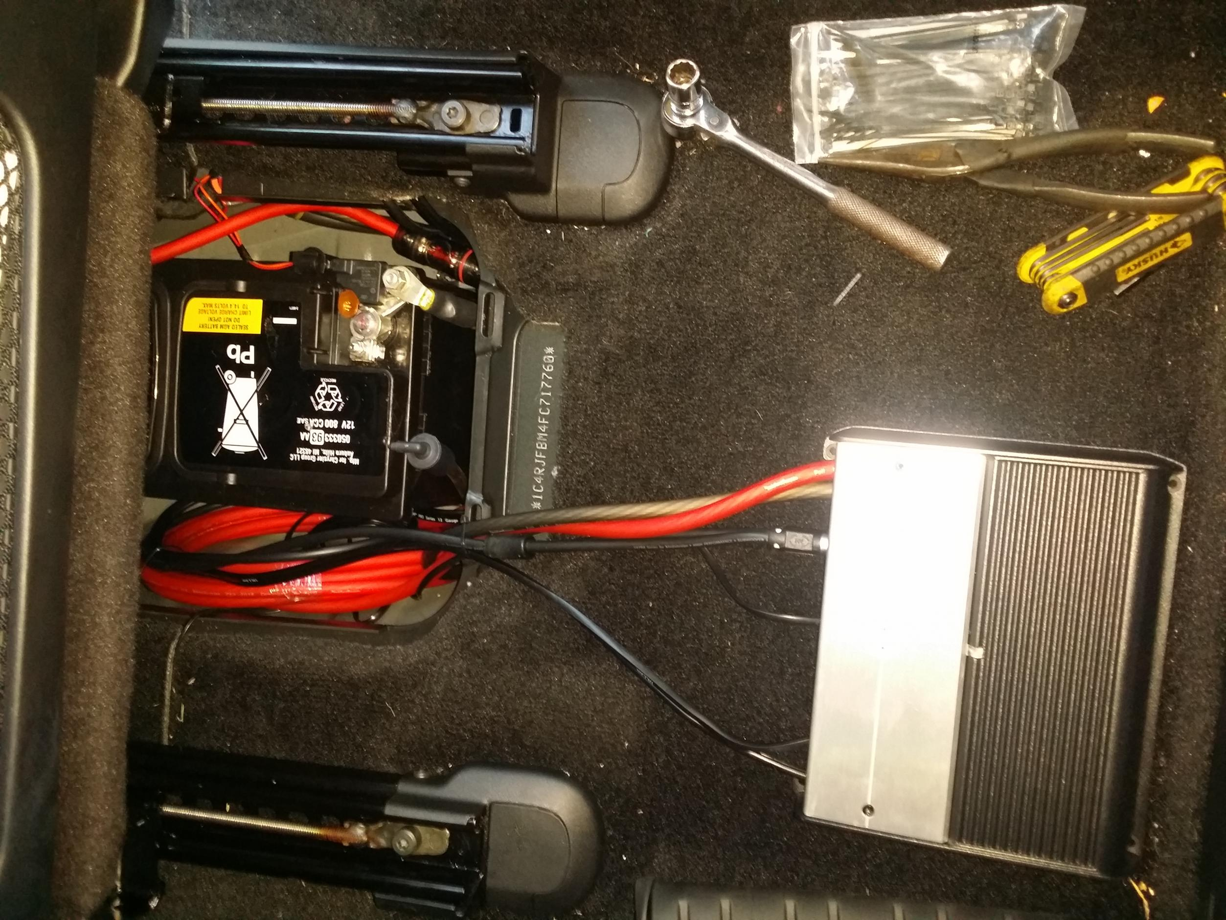 JL Audio Stealthbox and Amp Install - Detailed Photos and ... on guitar amplifier wiring diagram, 6 channel marine amplifier wiring, 5 1 kenwood amplifier wiring diagram, 6 channel car amplifier, receiver wiring diagram, bose subwoofer wiring diagram, 5 channel amplifier wiring diagram, 4 channel amp diagram, 4 ohm subwoofer wiring diagram, 2006 ml350 amplifier wiring diagram, 2 channel amp diagram, car sub amp wire diagram, jl marine amplifier wiring diagram, 6 channel amp installation, boat battery charger wiring diagram, amplifier and subwoofer wiring diagram,