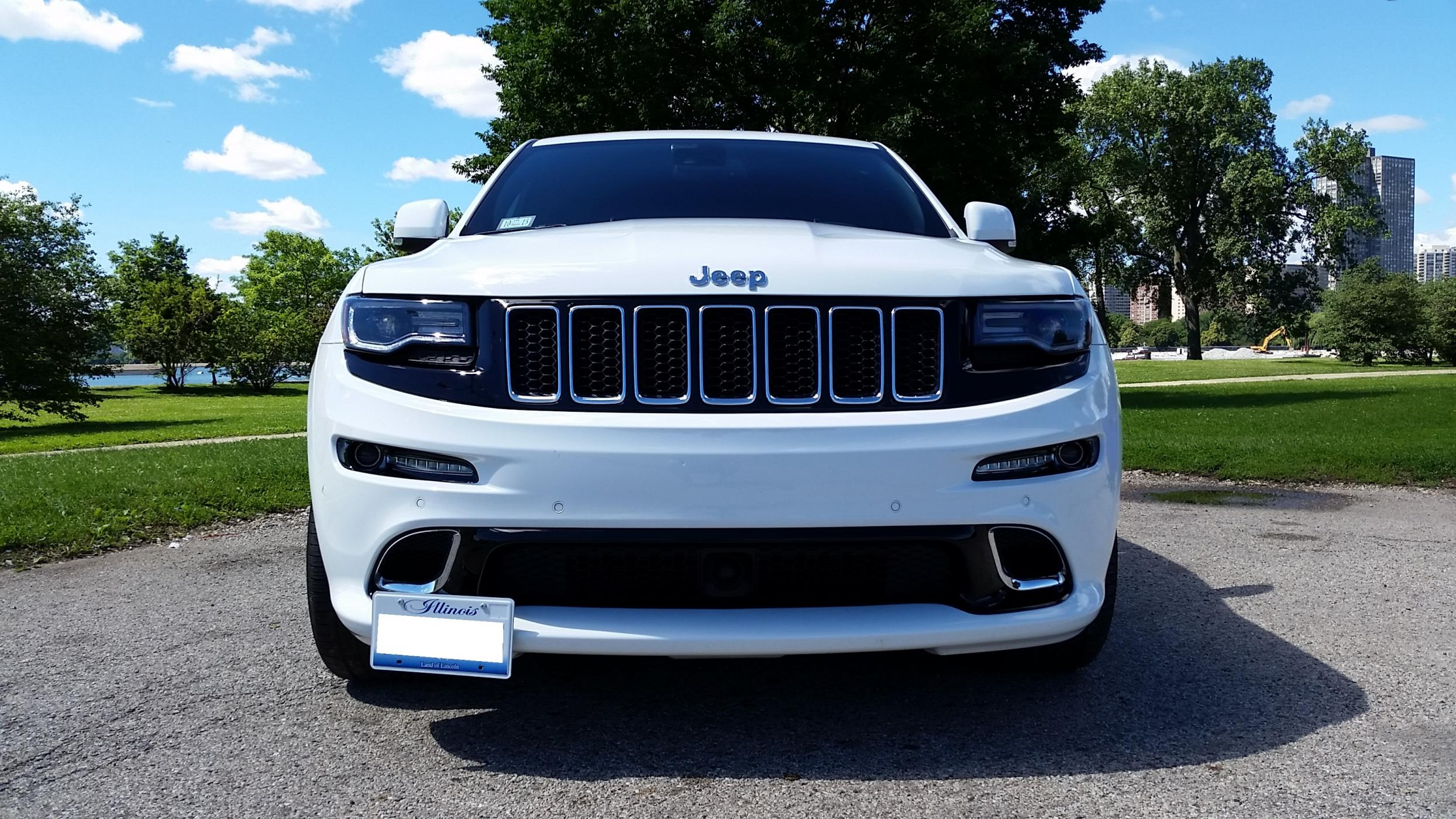 2017 Jeep Grand Cherokee SRT STO-N-SHO Removable Front License Plate Bracket
