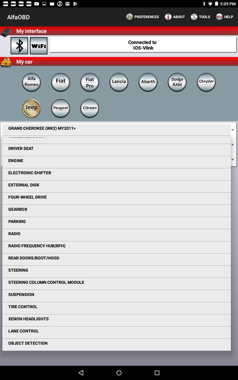 AlfaOBD – Diagnostic & Configurator software | Jeep Garage