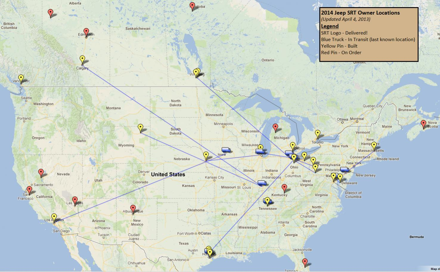 2014 SRT Owners Map 2013 04 04