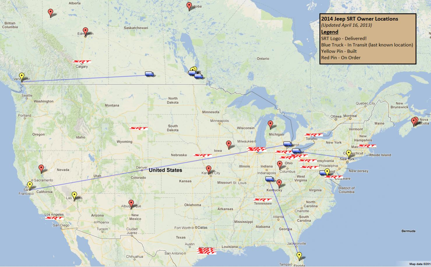 2014 SRT Owners Map 2013 04 16