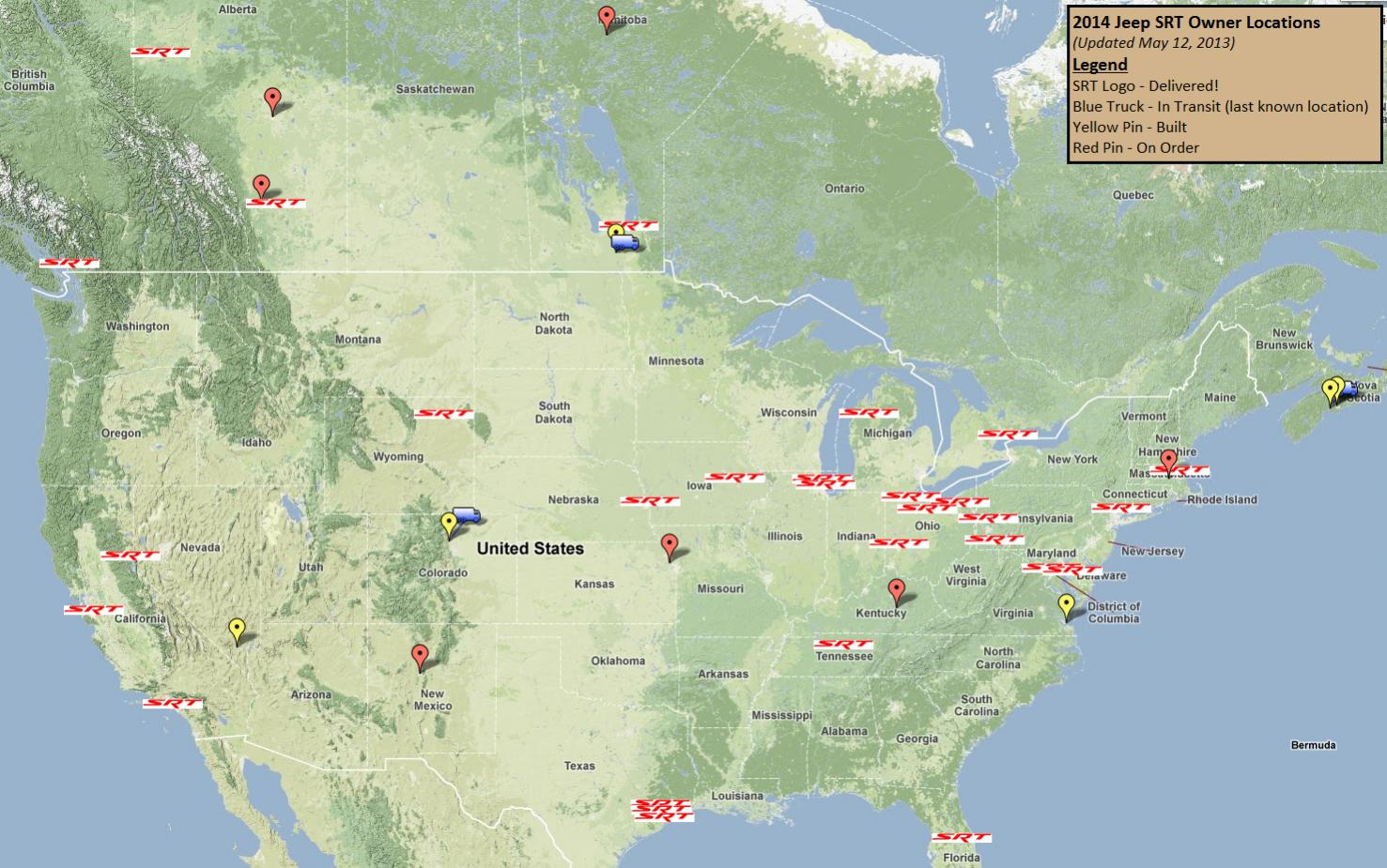 2014 SRT Owners Map 2013 05 12