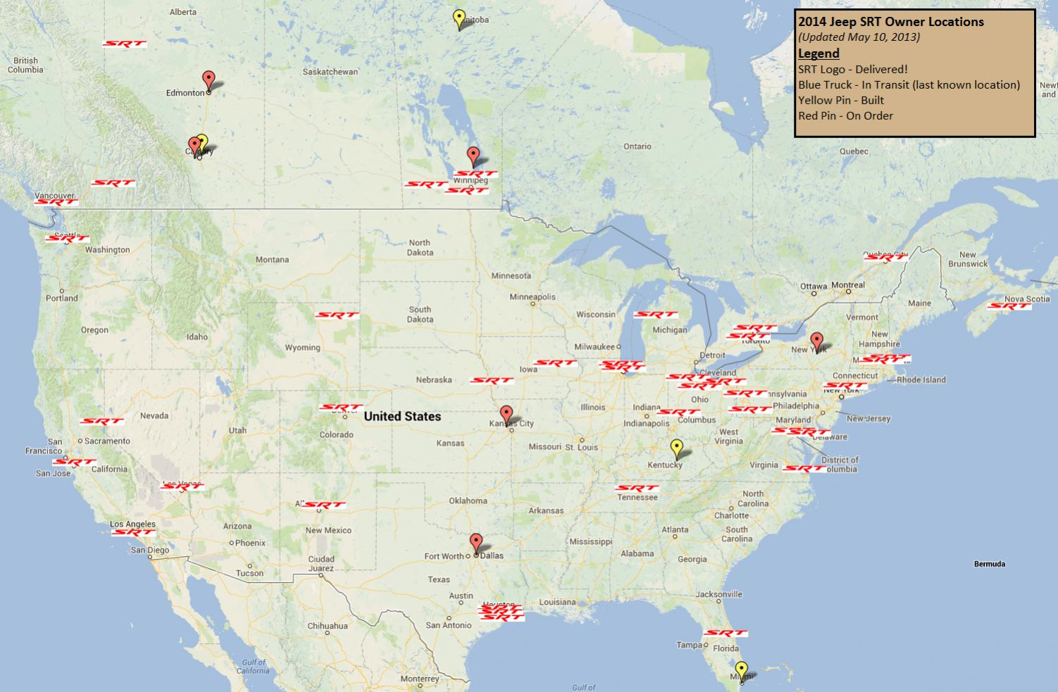 2014 SRT Owners Map 2013 06 10