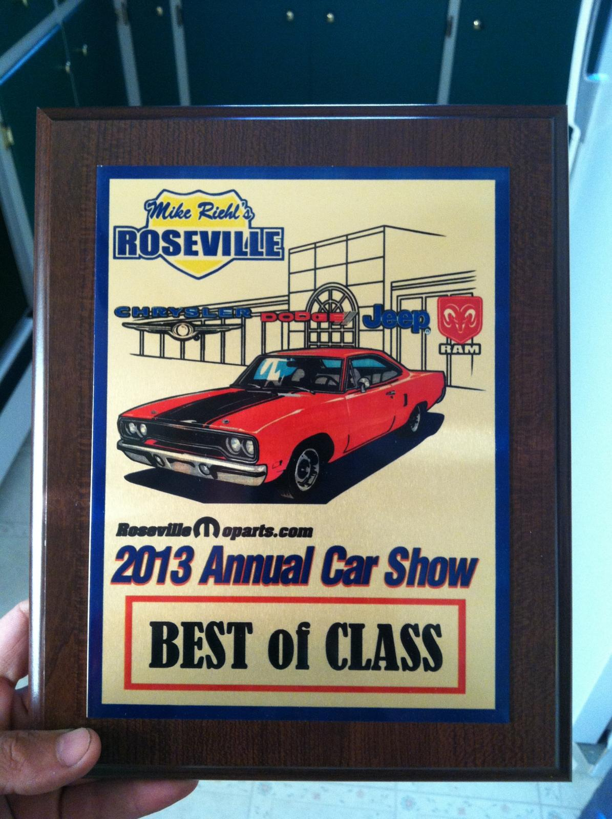 Best of Class award with the SRT8