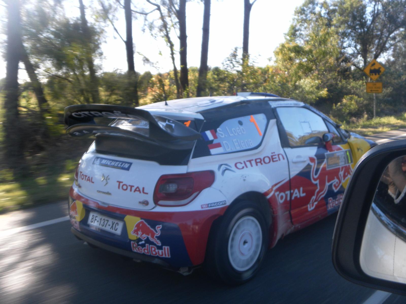 Cruzin with world rally champ