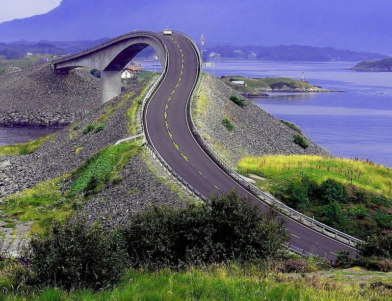 curvy road, norway
