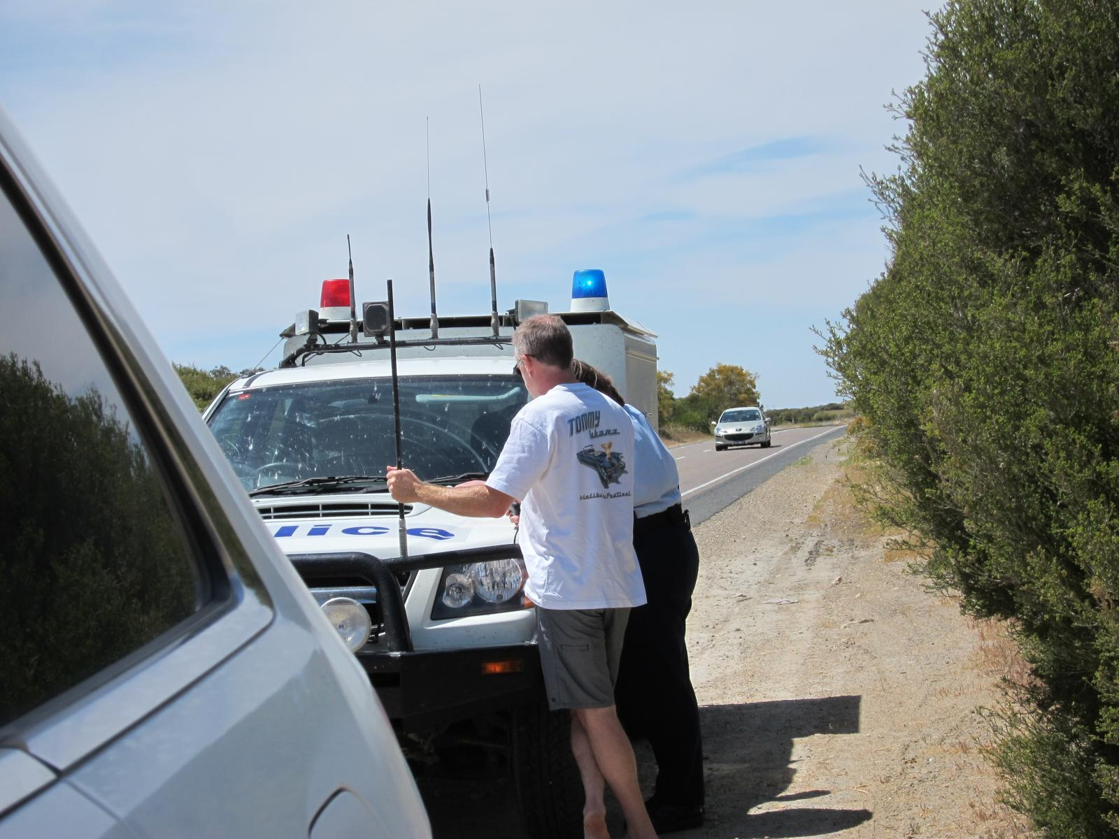 Doin my best to talk my way out of a fine.... South Australian police lady wasn't buying it, was worth a shot.....