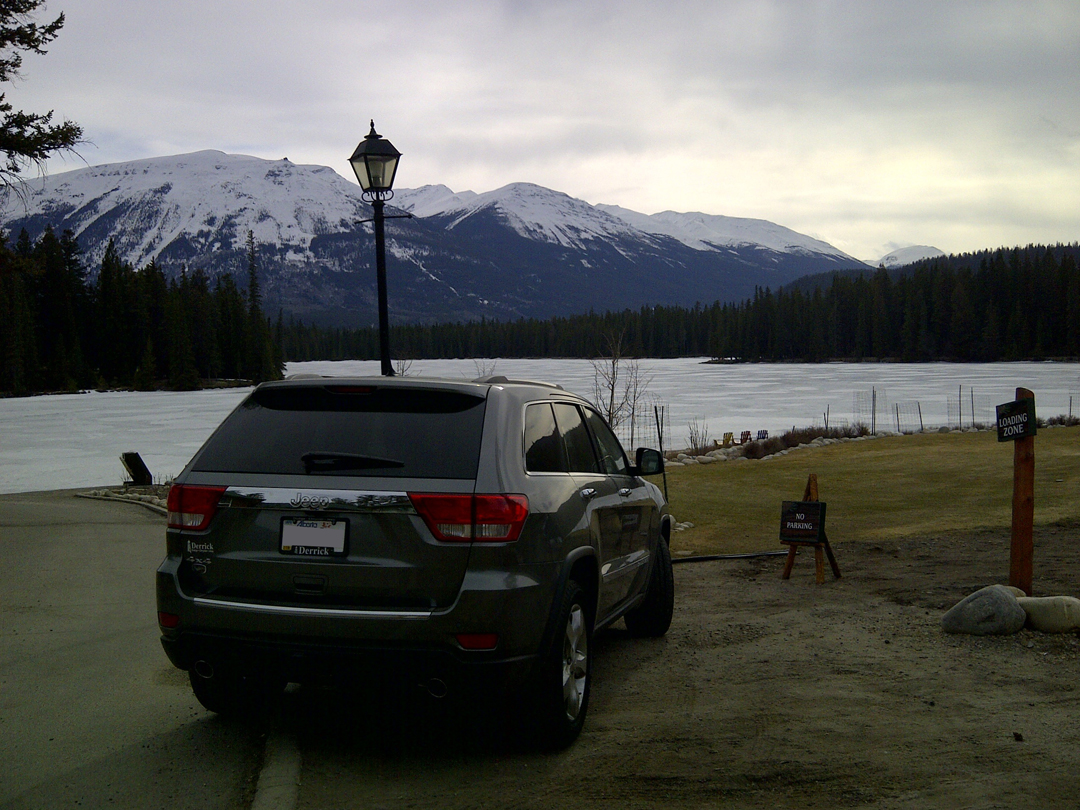 Jeep at The Fairmont Jasper Park Lodge