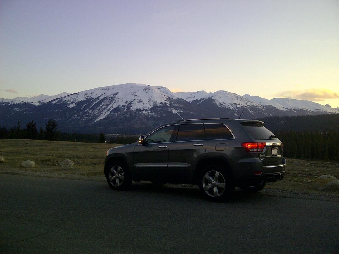 Jeep at The Fairmont Jasper Park Lodge