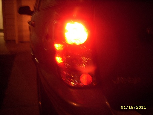 Tail light with LEDs